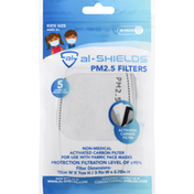 Al Shields PM2.5 Filters, Grey, Kids Size, 10 Pack