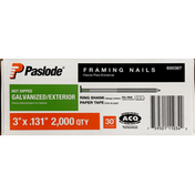 Paslode Framing Nails, Hot Dipped, Galvanized, Exterior