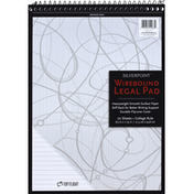 Top Flight Legal Pad, Wirebound, College Rule, 70 Sheets