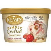 Kemps Simply Crafted Strawberry Rhubarb Cobbler Premium Ice Cream