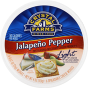 Crystal Farms Cheese Product, Pasteurized Processed, Light, Jalapeno Pepper