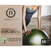 Natural Fitness Exercise Ball, Pro Burst Resistant, Medium