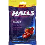 Halls Breezers Cool Berry Oral Demulcent Pectin Drops