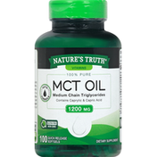 Natures Truth MCT Oil, 1200 mg, Quick Release Softgels