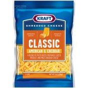 Kraft Classic American & Cheddar Shredded Cheese