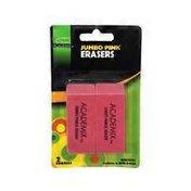 Academix Jumbo Pink Erasers