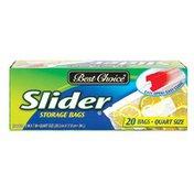 Best Choice Zip Slider Storage Quart Bag