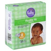 Baby Basics Diapers, Flexible Fit, Size 4 (22-37 lb)