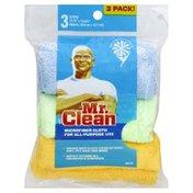 Mr. Clean Cloth, Microfiber, 3 Pack!