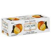 Cascade Ice Sparkling Water, Citrus Twist, 12 Pack