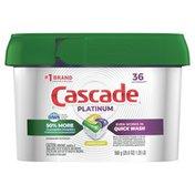 Cascade Platinum Actionpacs Dishwasher Detergent, Lemon Scent