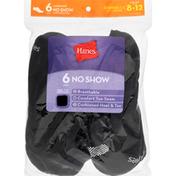 Hanes Socks, Cushioned, No Show, Shoe Size 8-12