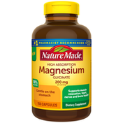 Nature Made High Absorption Magnesium Glycinate 200 mg Capsules