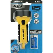 Dorcy Flashlight, LED, 125 Lumens