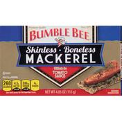 Bumble Bee Mackerel Fillets, Skinless, Boneless, In Tomato Sauce