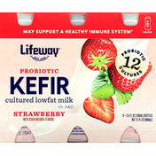 Lifeway Kefir, Strawberry, 6 Pack