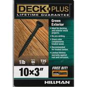 Deck Plus Screws, Exterior, Green, 3 Inch