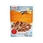 Meijer vanilla almond FLAVORED crunchy rice & wheat flakes with real almonds & vanilla