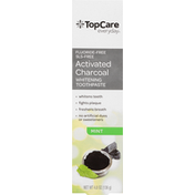 TopCare Toothpaste, Whitening, Mint, Activated Charcoal
