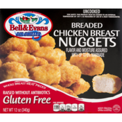 Bell & Evans Uncooked Chicken Breast Nuggets Breaded