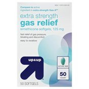 Up&Up Gas Relief, Extra Strength, 125 mg, Softgels