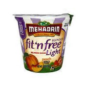 Mehadrin Fit'N Free Fat Free Yogurt, Peach