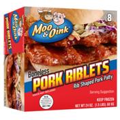 Moo & Oink Boneless Rib Shaped Pork Riblets Patty