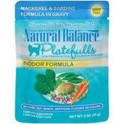 Natural Balance Dick Van Patten's Platefulls Indoor Formula Mackerel & Sardine in Gravy Cat Food
