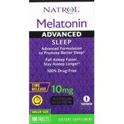 Natrol Melatonin, Maximum Strength, 10 mg, Tablets, Advanced Sleep, Value Size