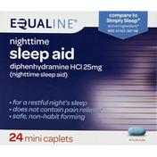 Equaline Sleep Aid, Nighttime, 25 mg, Mini Caplets