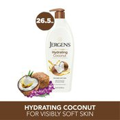 JERGENS Coconut Hand and Body Lotion for Dry Skin, Dermatologist Tested Moisturizer