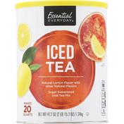 Essential Everyday Iced Tea Mix, Lemon Flavor, Sugar Sweetened