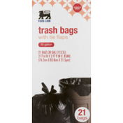 Food Lion Trash Bags, With Tie Flaps