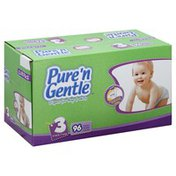Pure 'n Gentle Diapers, for Boys & Girls, 3 (16-28 Pounds), Club Pack