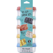 Fit & Fresh Snack Set, 1/2 Cup