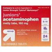 Up&Up Acetaminophen, Juniors', 160 mg, Melty Tabs, Grape Flavor