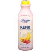 Lifeway Strawberry Banana Cultured Lowfat Milk
