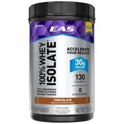 EAS Chocolate EAS 100% Whey Protein Isolate Protein Powder Chocolate Powder Canisters