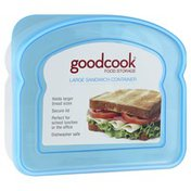 GoodCook Food Storage, Sandwich Container, Large