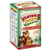 Yummi Bears Vitamins, Calcium + Vitamin D3, Vegetarian, Sour Gummy Bears