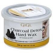 Gigi Hair Removal Wax, Charcoal Detox Hard, for Women & Men
