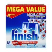 Finish Powerball Tabs Automatic Dishwasher Detergent - 85 CT
