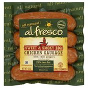 Alfresco Chicken Sausage, Sweet & Smoky BBQ, with Chili Peppers