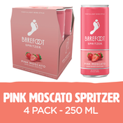 Barefoot Pink Moscato Wine 4 Single Serve Cans