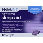 Equaline Sleep Aid, Nighttime, 25 mg, Softgels