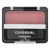 CoverGirl Cheekers Blendable Powder Blush, Rock n Rose, Female Cosmetics