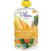 Plum Organics® Stage 2 Hearty Veggie Corn, Kale, Carrot & Tomato