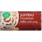 Food Club Jumbo Cinnamon Rolls With Icing