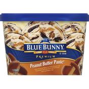 Blue Bunny Ice Cream, Premium, Peanut Butter Panic