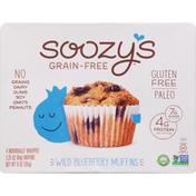 Soozy's Muffins, Grain-Free, Wild Blueberry